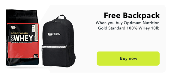Gold STandard Whey 10lb Free Backpack