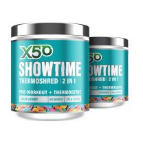 X50 Showtime Twin Pack Sour Gummy Worm