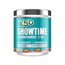 X50 - Showtime - New packaging - 60 Serves sour gummy worm