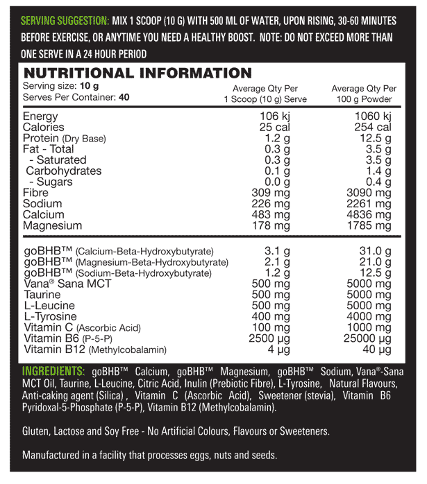 Switch Nutrition - KETO SWITCH supplement info